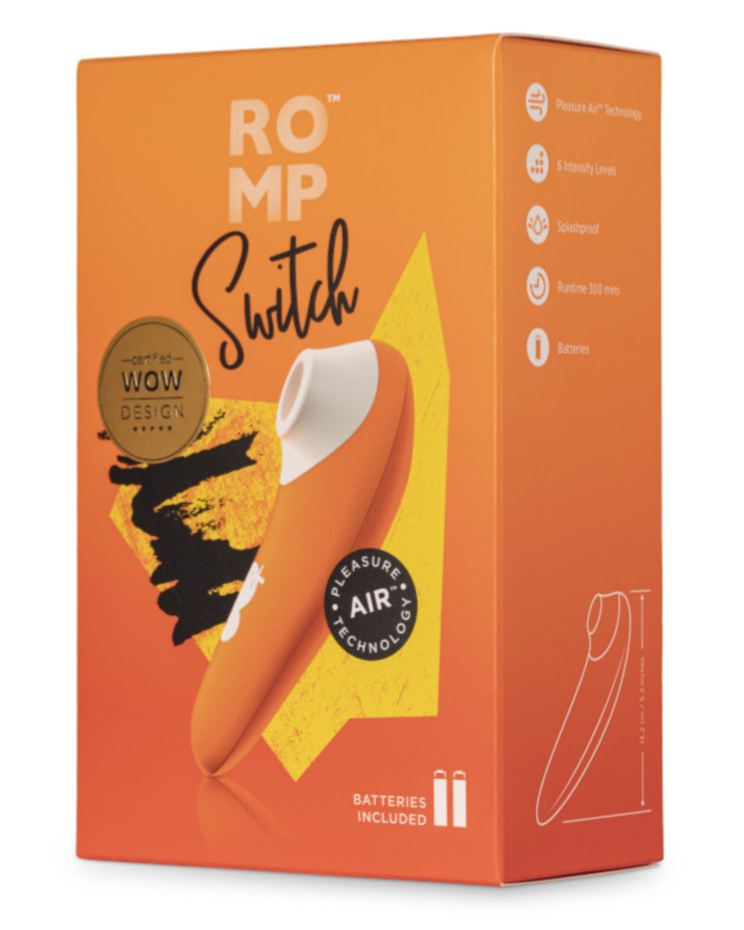 Romp Switch Pleasure Air Clitoral Stimulator - Orange