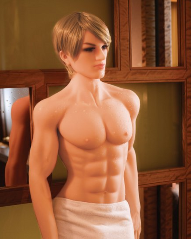 NextGen Kenny Premium Love Doll in profile wearing a towel
