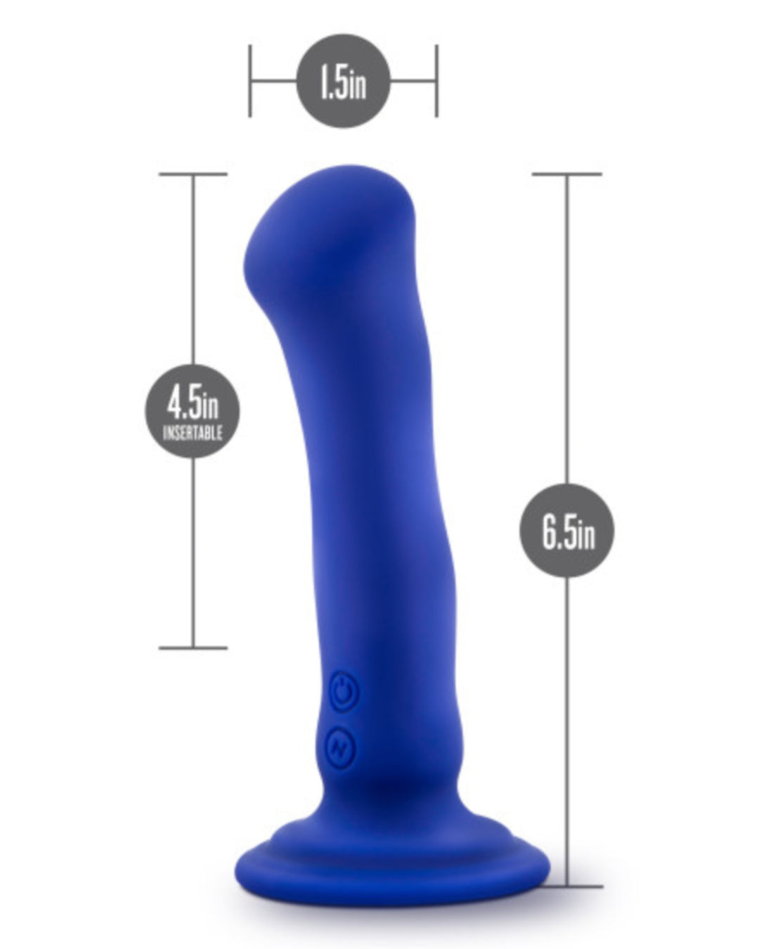 Impressions N2 Silicone G-Spot Vibrator with Suction Cup by Blush - Blue