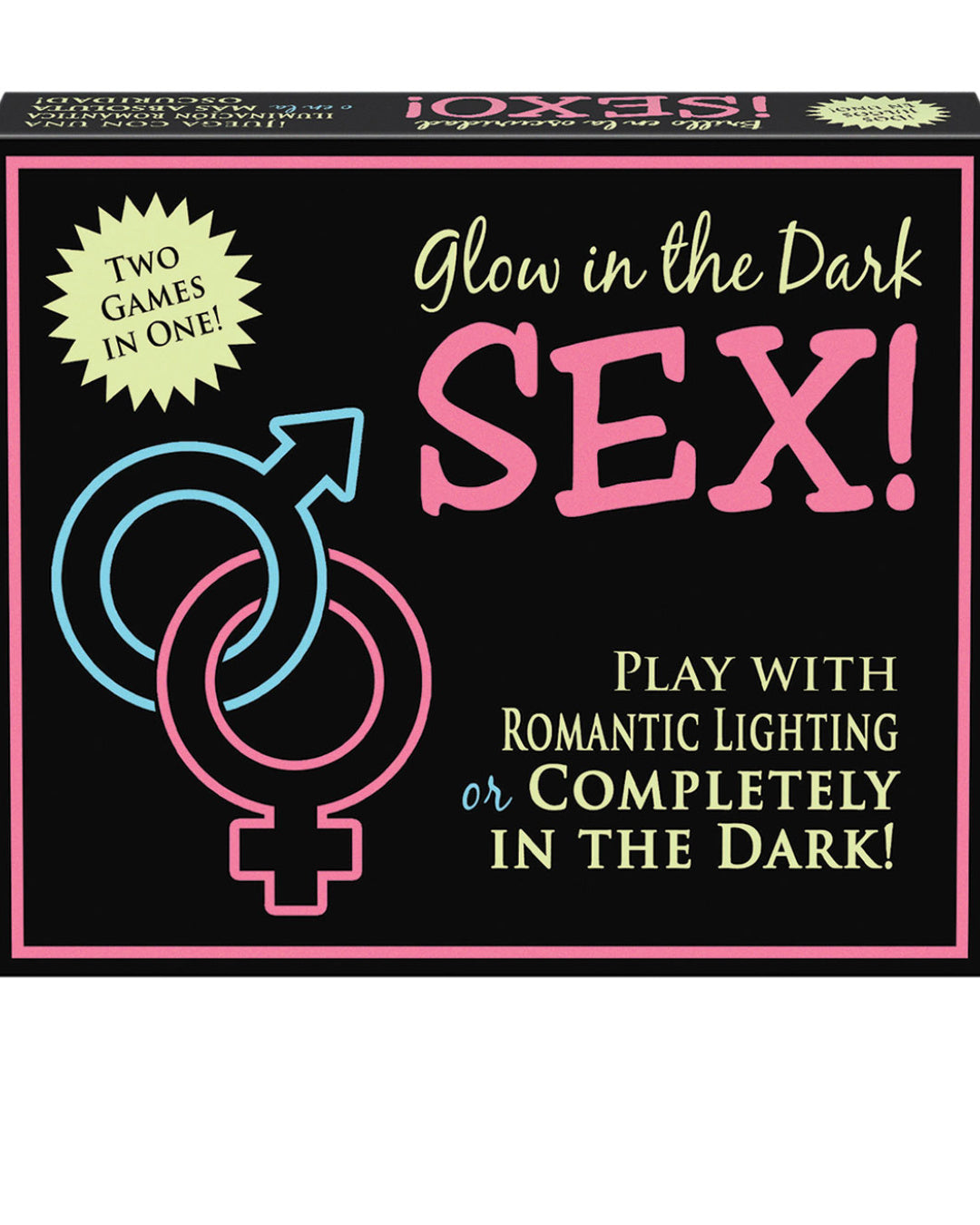 Glow In The Dark Sex Game by Kheper Games Close up of box
