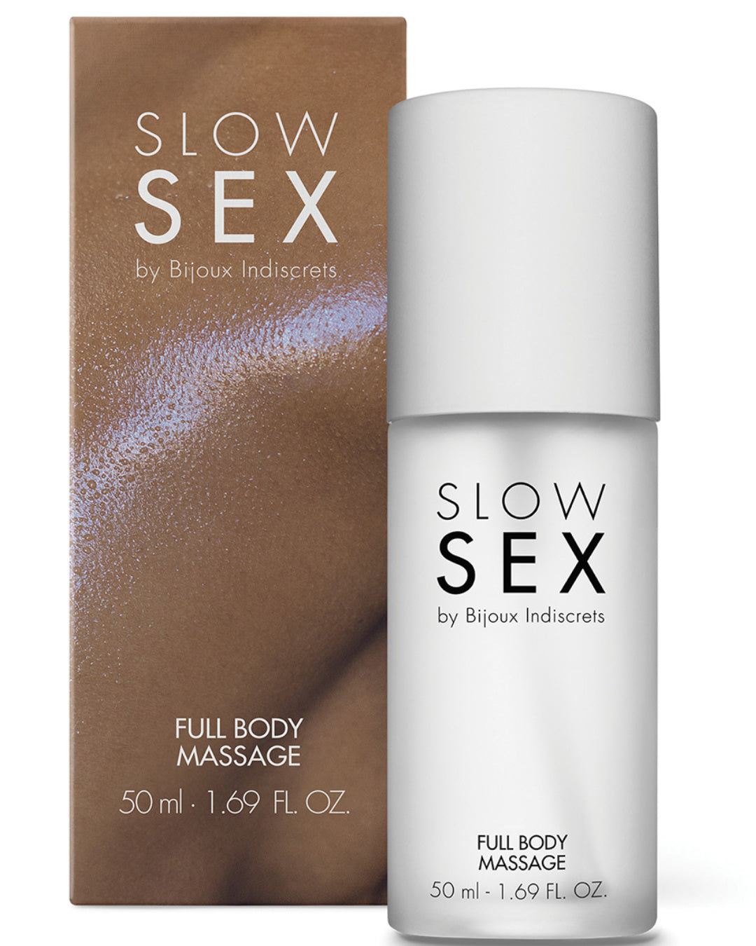 Bijoux Indiscrets Slow Sex Full Body Massage Gel product next to box