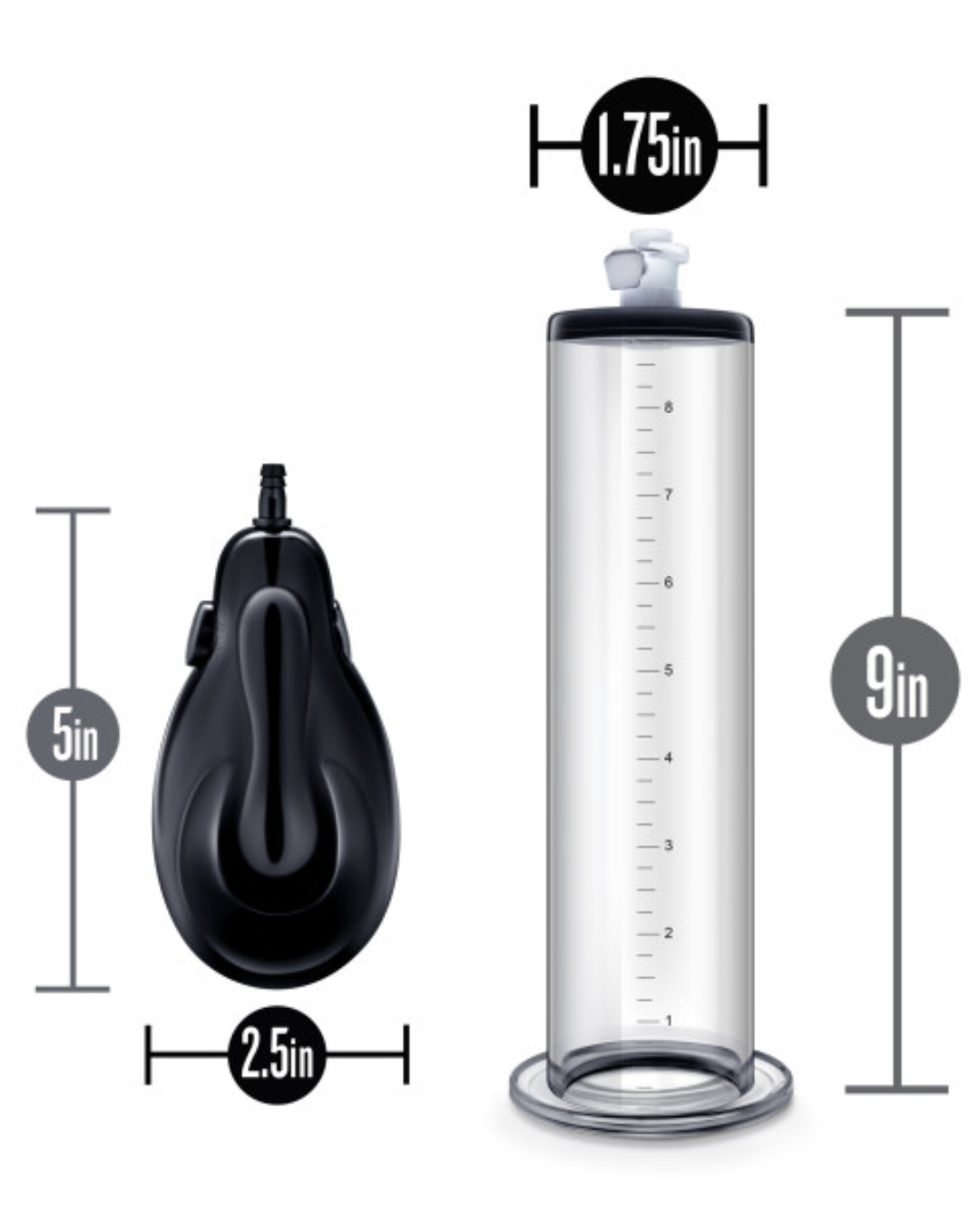 Performance Vx9 Automatic Penis Pump by Blush - Clear