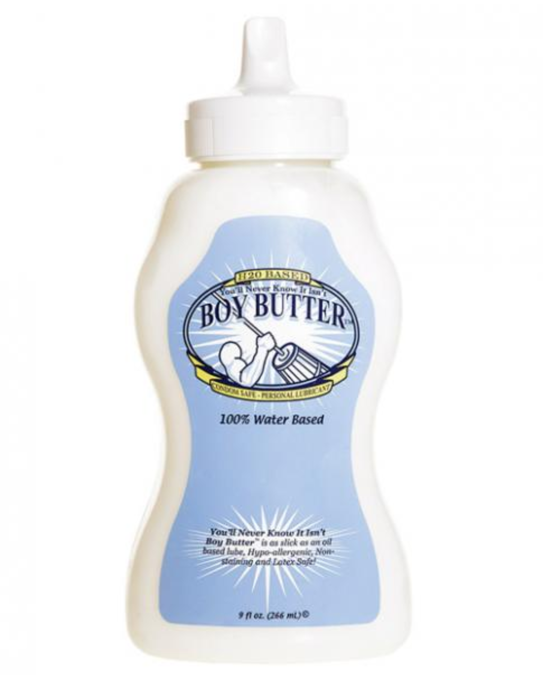 Boy Butter H20 Water Based Cream Lubricant pump