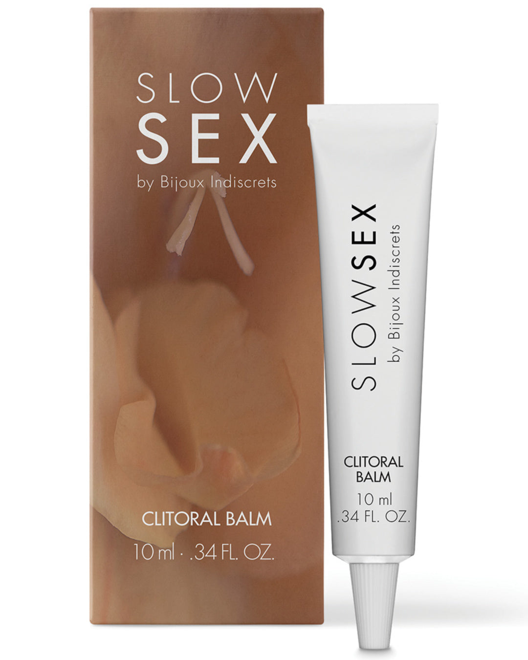 Bijoux Indiscrets Slow Sex Clitoral Balm next to product box