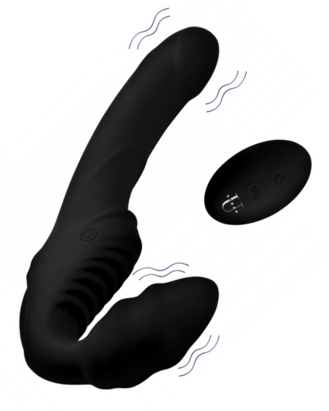 Pro Rider Vibrating Silicone Strapless Strap On with Remote Control