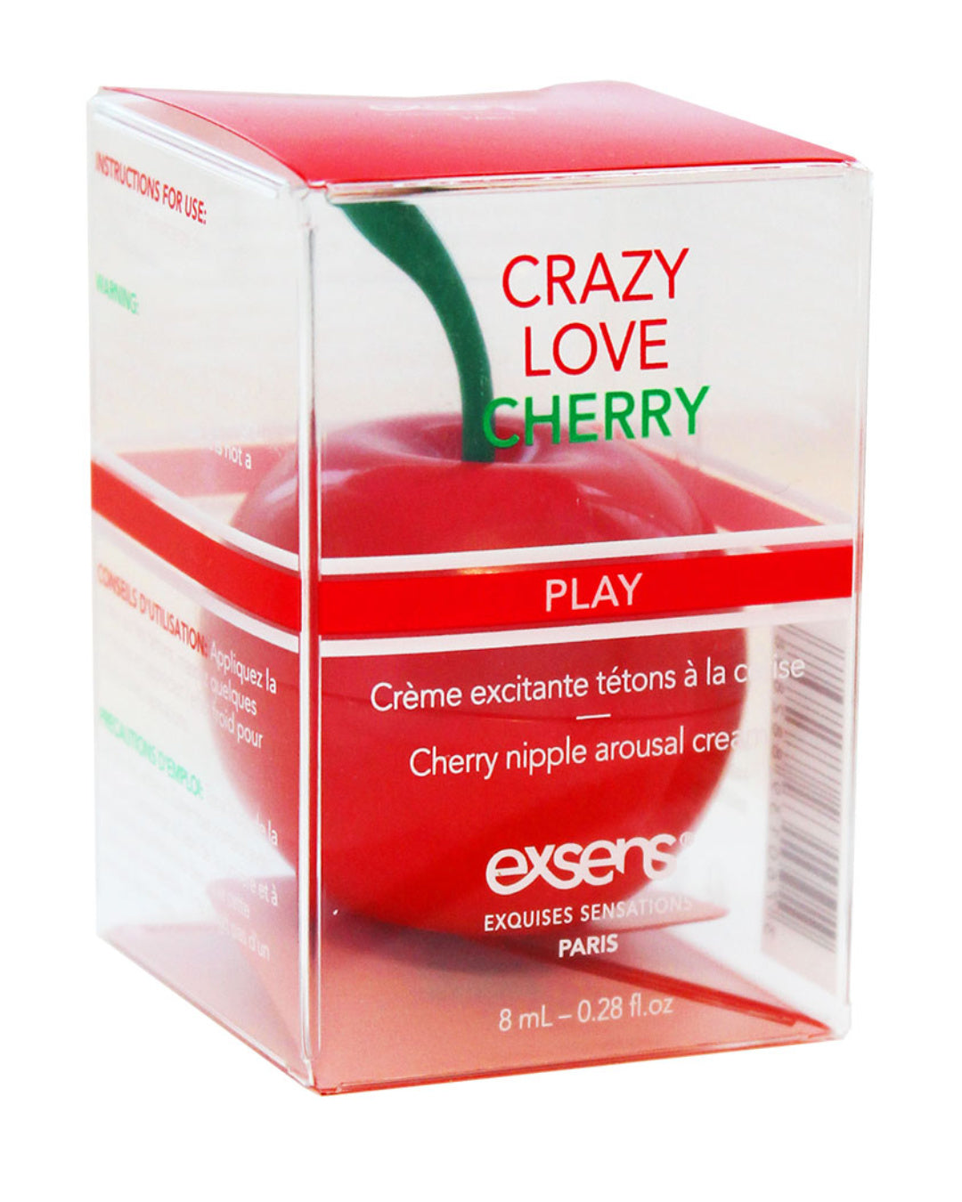 Exsens of Paris Crazy Love Cherry Flavored Nipple Arousal Cream in the package