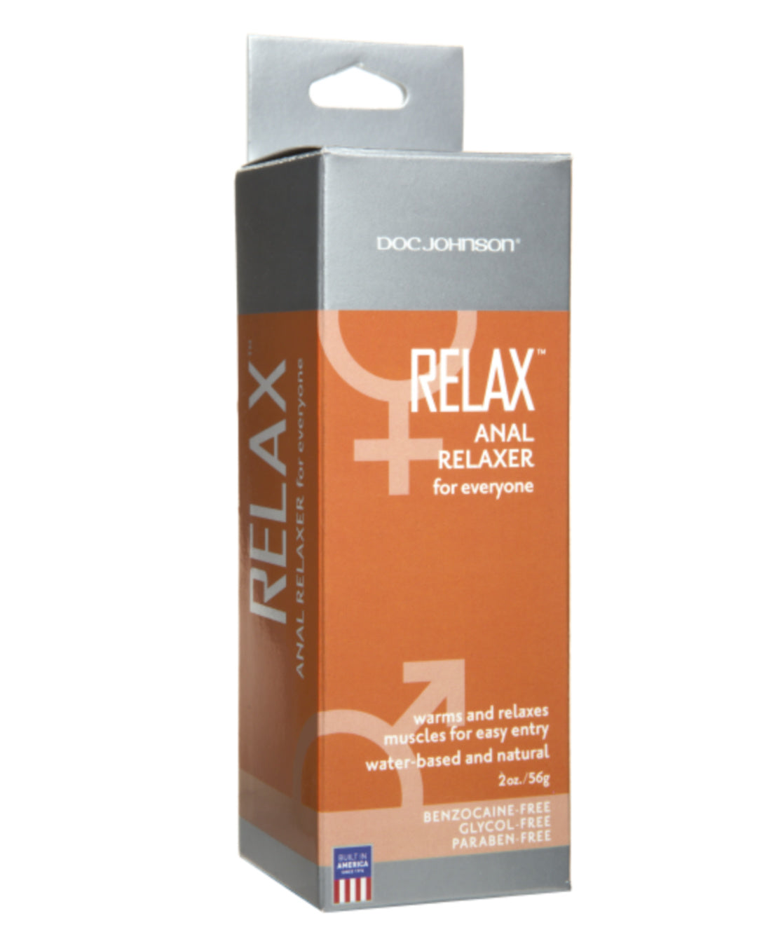 Relax Anal Relaxer Lubricant by Doc Johnson 2 oz box