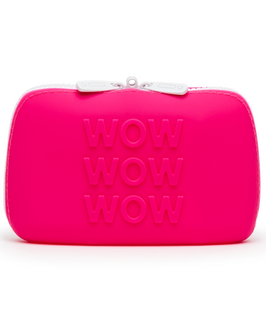 Happy Rabbit WOW Small Silicone Zipper Storage Case - Pink