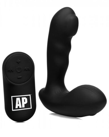 Alpha Pro P-MILKER Silicone Prostate Stimulator with Milking Bead - Black