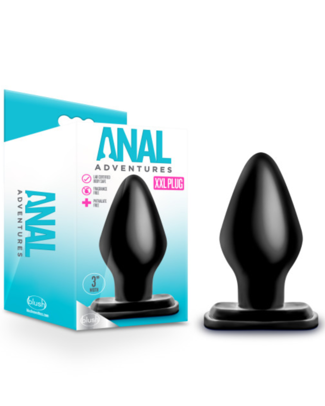 Anal Adventures XXL Butt Plug by Blush Novelties with Box