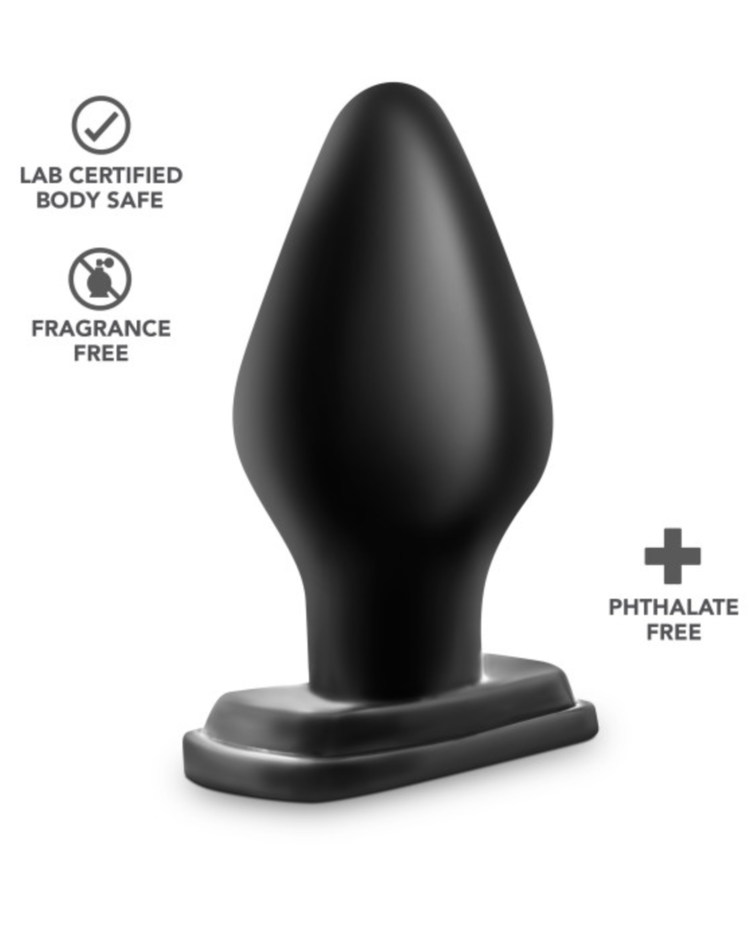 Anal Adventures XXL Butt Plug by Blush Novelties Sideview