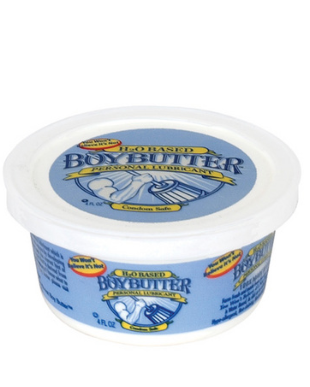 Boy Butter H2O water based cream lubricant  4 oz tub