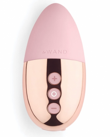 Le Wand Point Weighted Waterproof Silicone Lay-On Vibrator - Rose Gold