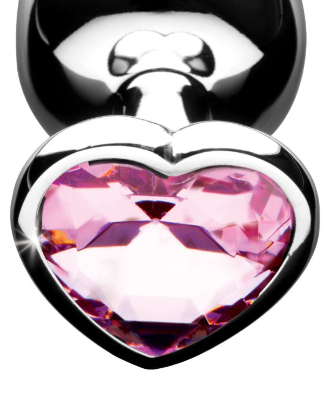 Booty Sparks Pink Heart Gem Metal Butt Plug Set of 3
