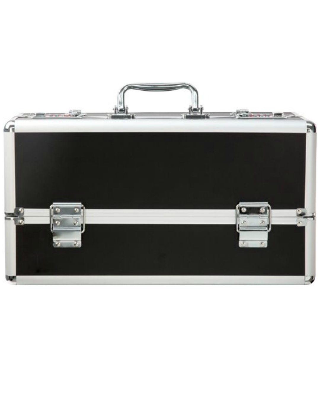 Lockable Sex Toy Storage Case Large Double Tiered - Black