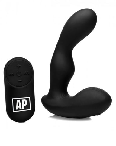 Alpha Pro 7X P-STROKE Silicone Prostate Stimulator with Stroking Shaft