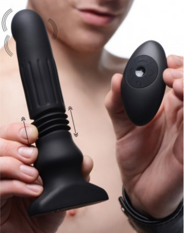 MODEL HOLDING Thunder Plugs Swelling and Thrusting Silicone Plug with Remote Control