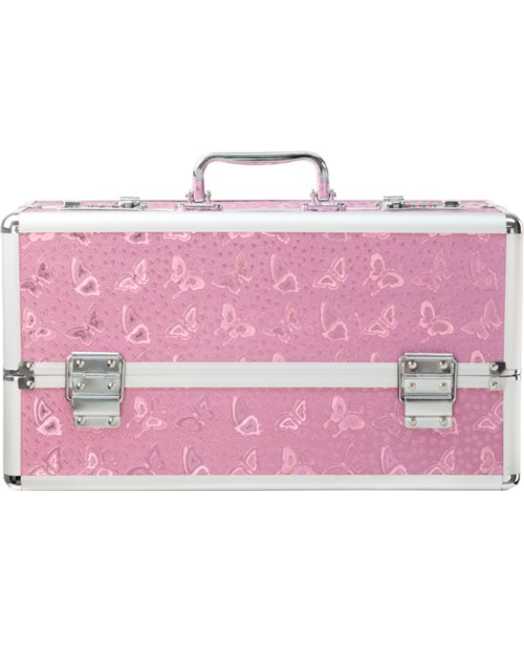 Lockable Vibrator Case Large Double Tiered - Pink
