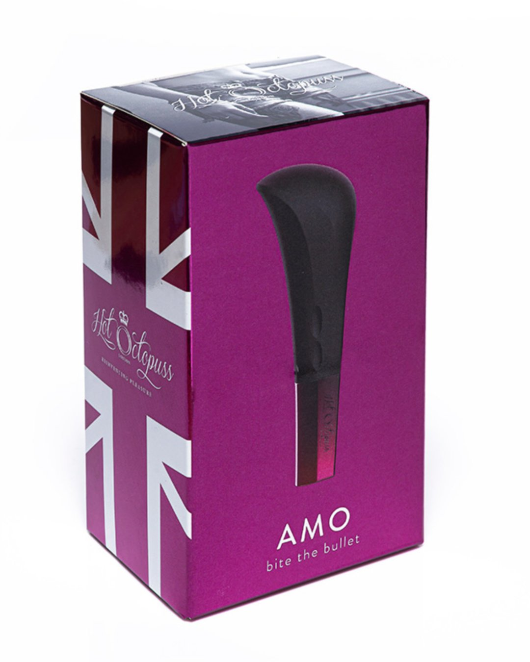 Amo Powerful Silicone Rechargeable Bullet by Hot Octopuss box