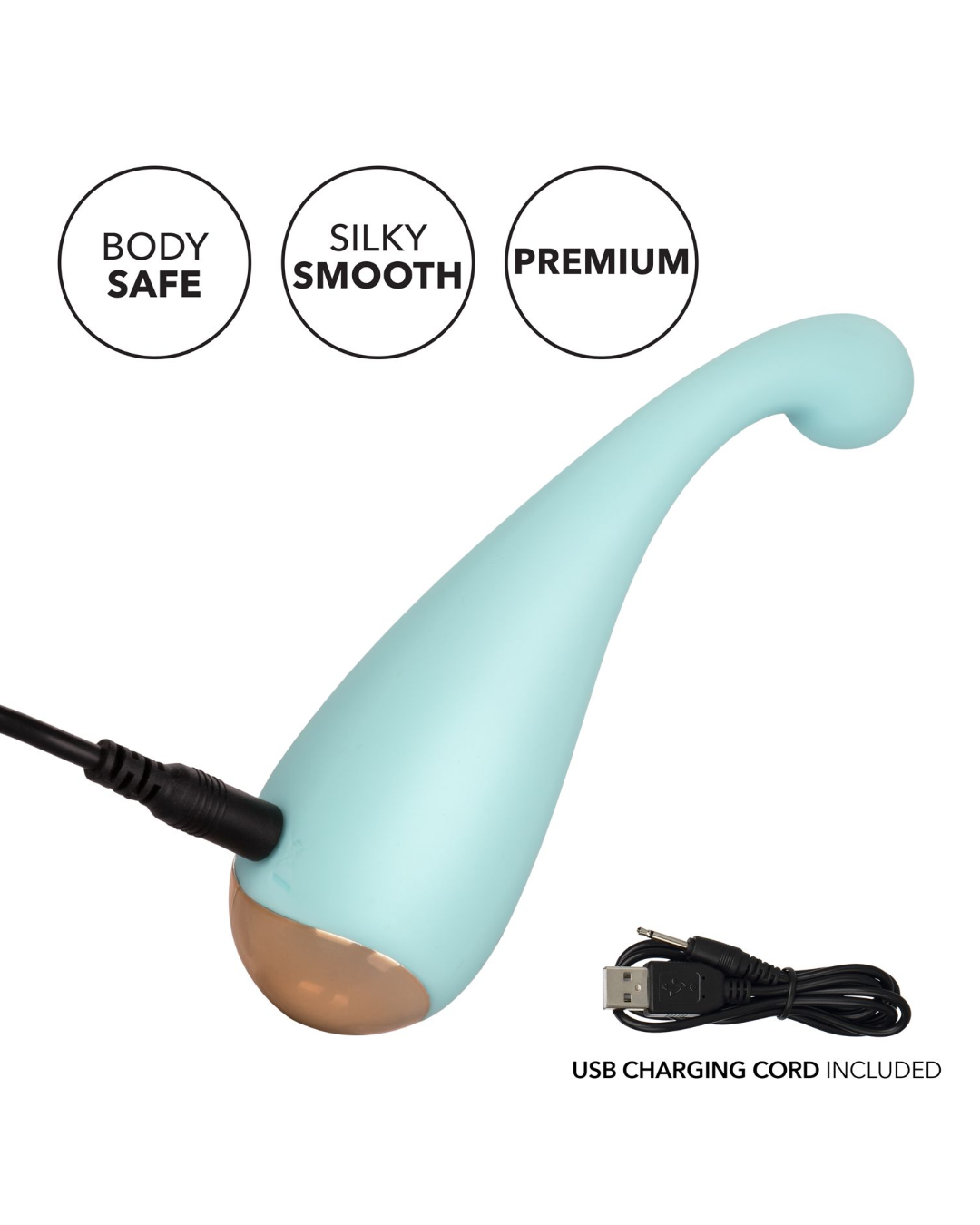 Slay Thrill Me Rechargeable Waterproof External Palm Sized Vibrator by Calexotics with charging cable