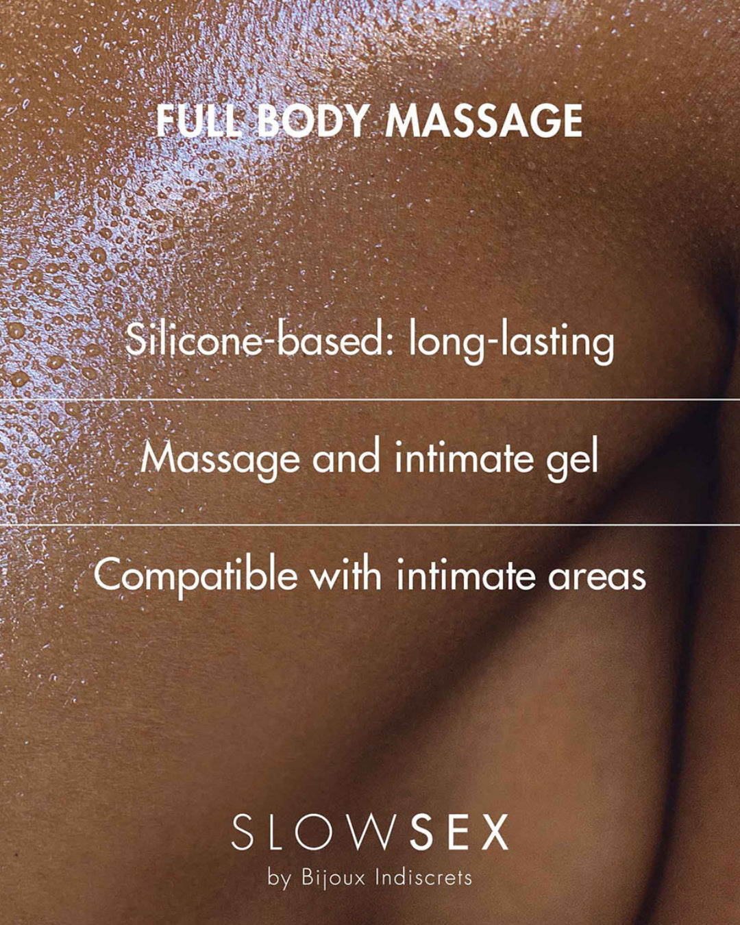 Bijoux Indiscrets Slow Sex Full Body Massage Gel written description of product