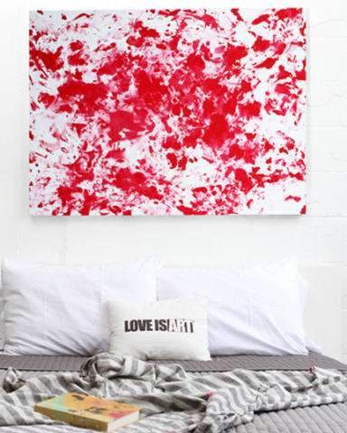 Love is Art Romantic Canvas & Paint Kit - Assorted Colors