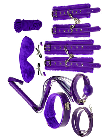 Everything Bondage 9 Piece Beginner's Bondage Kit - Purple