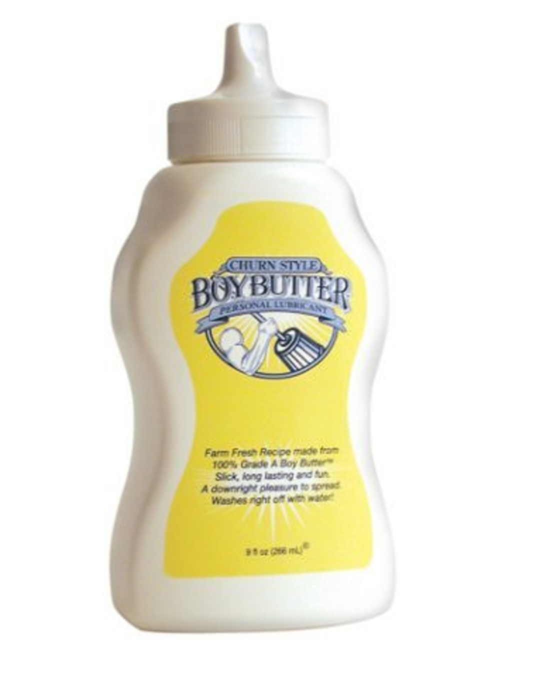 Boy Butter Oil Based Lubricant with Coconut Oil 9 oz Squirt