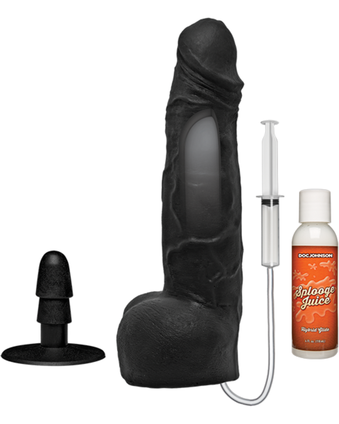KINK Wet Works 10 Inch Dual Density Squirting Cumplay Cock with Removable Vac-U-Lock Suction Cup