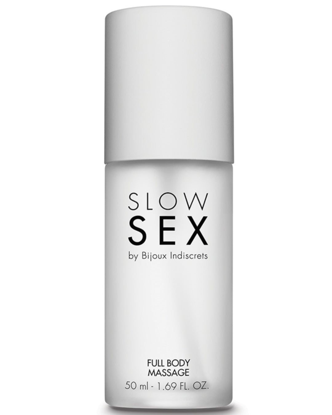Bijoux Indiscrets Slow Sex Full Body Massage Gel bottle close up