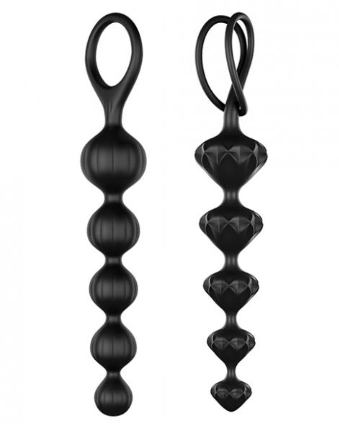 Satisfyer Silicone Anal Beads Set of 2 - Black