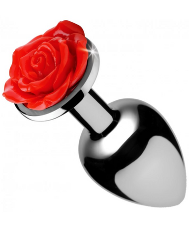 Booty Sparks Red Rose Anal Plug - Large