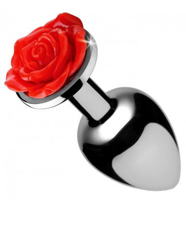 Booty Sparks Red Rose Anal Plug - Medium