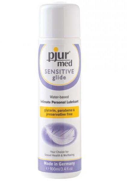 Pjur Med Sensitive Glide Water Based Lubricant 3.4 oz