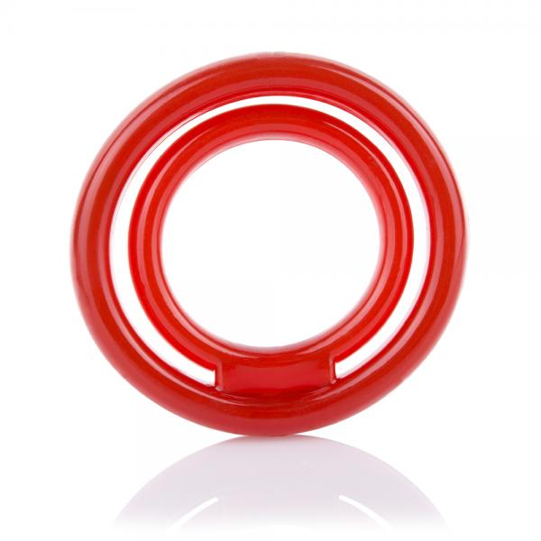 Screaming O Ringo 2 Ring with Ball Sling Silicone Cock Ring red