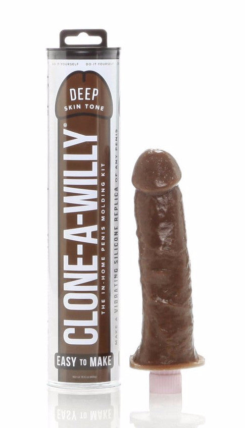 Clone A Willy Vibrating Silicone Penis Casting Kit - Deep Tone finished product