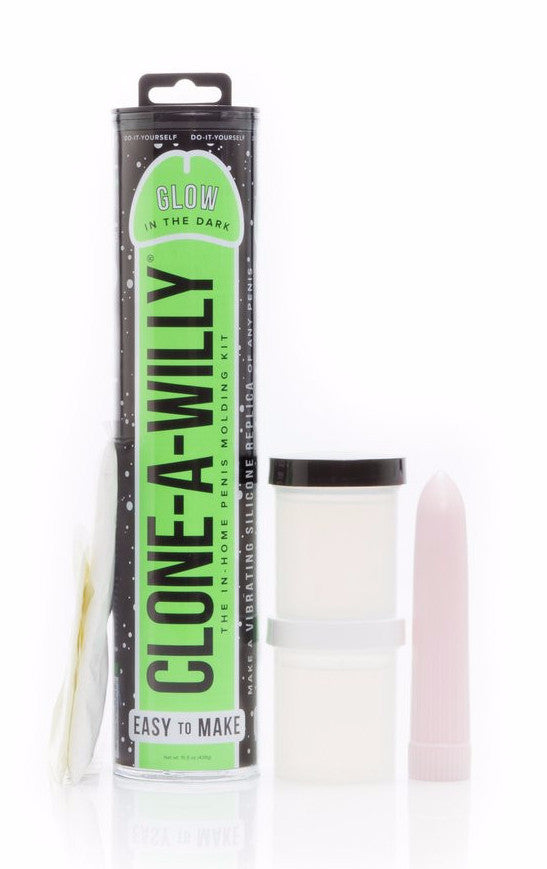 Clone A Willy Vibrating Silicone Penis Casting Kit - Glow In the Dark contents