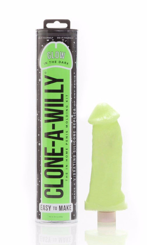 Clone A Willy Vibrating Silicone Penis Casting Kit - Glow In the Dark finished product