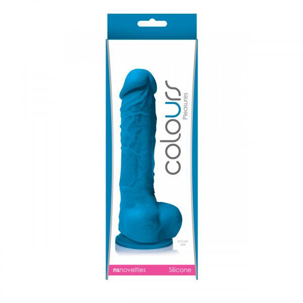 Colours Pleasure Realistic Dildo 5 Inches Blue box
