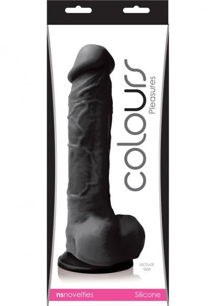 Colours Pleasures 8 inch Black Dildo box