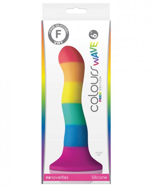 Colours Wave Pride Edition 6 Inch Silicone Rainbow Dildo by NS Novelties