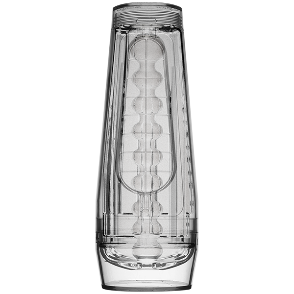 Main Squeeze Optix Crystal Penis Stroker by Doc Johnson side view