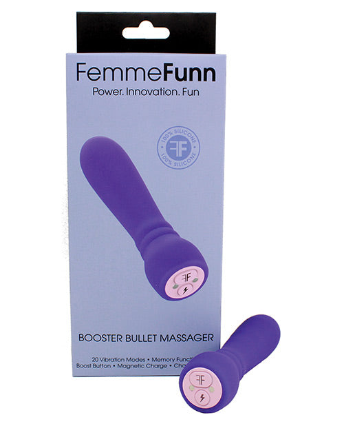 FemmeFunn Booster Bullet Powerful Silicone Vibrator - Purple box