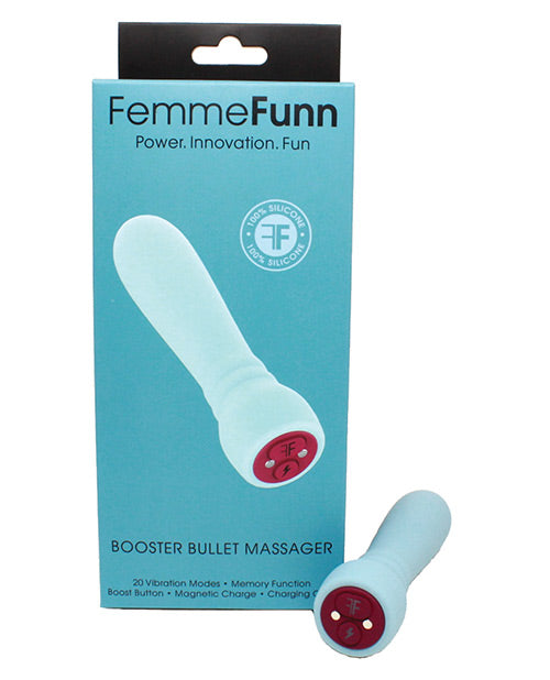 FemmeFunn Booster Bullet Powerful Silicone Vibrator - Light Blue BOX