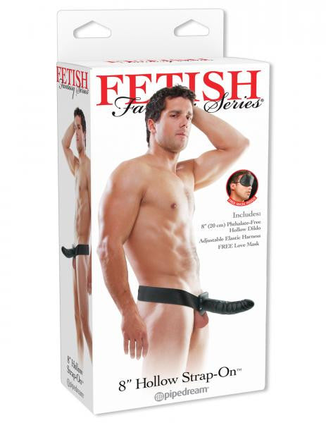 Hollow Strap On Dildo by Fetish Fantasy 8 inches - Black package