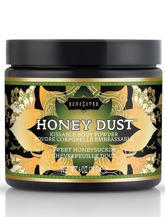 Kama Sutra Honey Dust Kissable Body Powder - Sweet Honeysuckle
