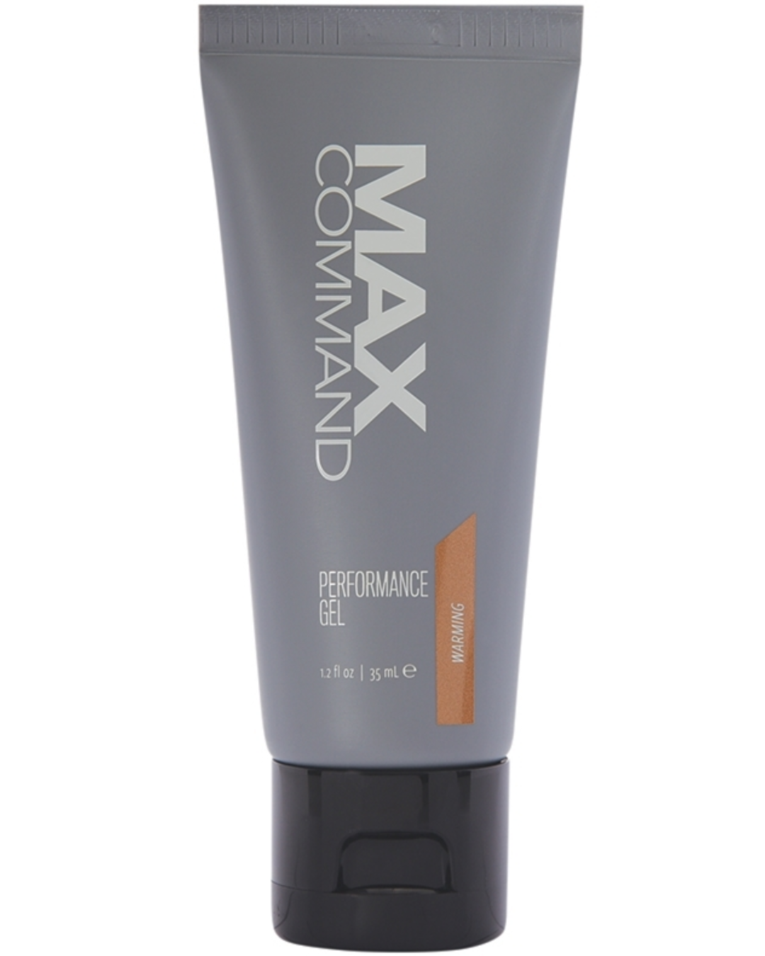 Max Command Performance Gel - Warming 1.2 oz up closes of bottle
