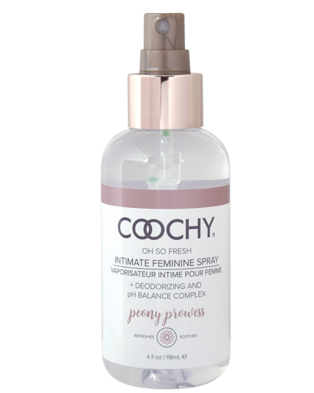 Coochy Intimate Feminine Spray - Peony Prowess 4 oz front of bottle