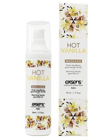 Exsens of Paris Hot Vanilla Warming Massage Oil 4 oz