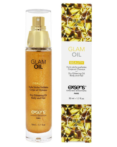 Exsens Of Paris Beauty Glam Oil With Glitter 1.7oz